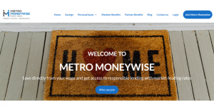 Metro Moneywise home page